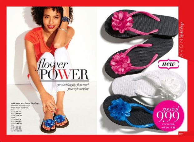 Avon Flower and Beads Flip-Flop