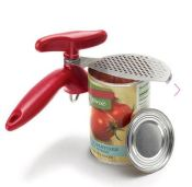 Edgeless Can Opener with Strainer