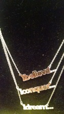 Sterling Silver Affirmation Necklaces